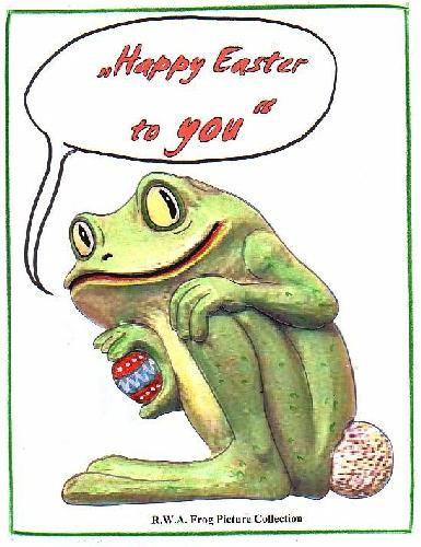 Rwa Picture Collection Xcvii Easter Frogs