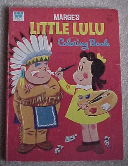 and has the same picture on the cover however the title has changed from marges little lulu and tubby coloring book to marges little lulu coloring